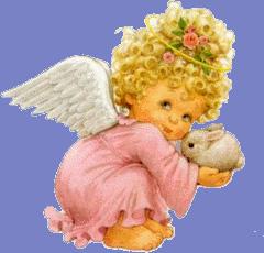 aniolek z zajaczkiem